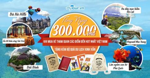 """""""Bùng nổ"""" đại tiệc quà tặng đón mừng sinh nhật Mytour.vn"""