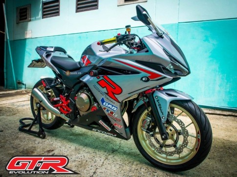 Honda CBR500R trong ban do GTR Racing Team day chat choi
