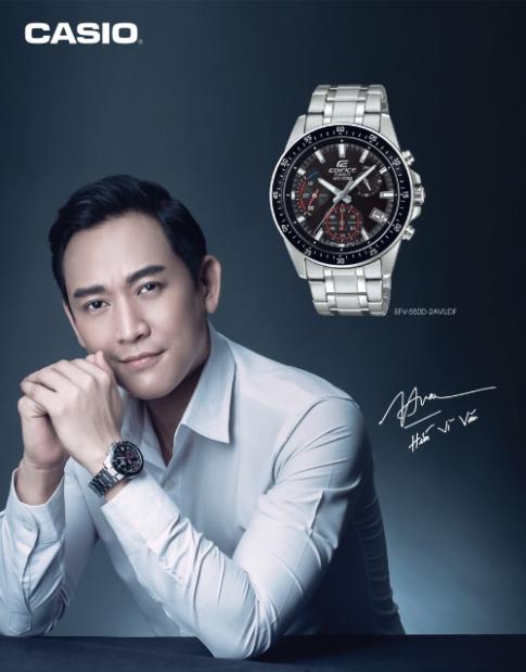 Hứa Vĩ Văn làm đại sứ thương hiệu đồng hồ Casio Ediffice