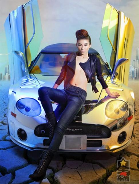 Mỹ nhân sành điệu bên siêu xe Spyker