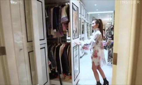 Phòng chứa 200 túi Hermes, 300 đôi giày hiệu của người đẹp Singapore