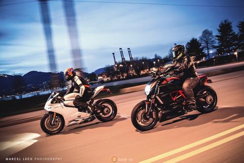 Cặp đôi Ducati 1199 S và Diavel carbon khoe sắc