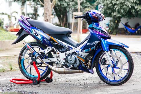 Chiếc Satria 120 độ ấn tượng của biker Lâm Đồng