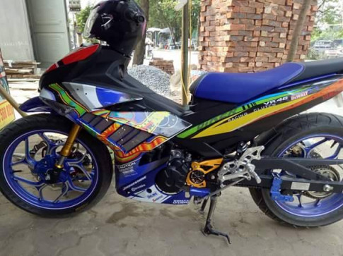 Exciter 150 bay mau cua biker Tra Vinh