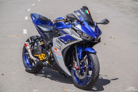 Yamaha R3 mạnh mẽ và nổi bật của biker Bình Dương