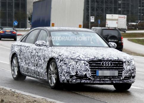 Audi A8 bản nâng cấp trên đường thử