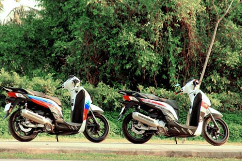 Bộ đôi Honda SH300i lên dàn áo thể thao