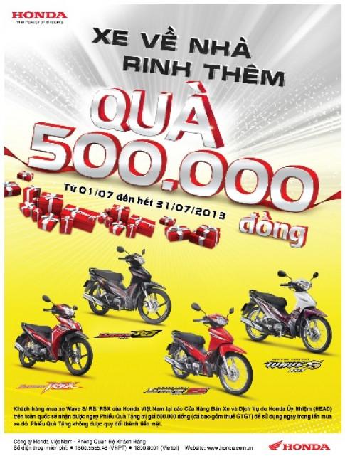 Honda VN dành 18,5 tỷ đồng ưu đãi khách mua xe