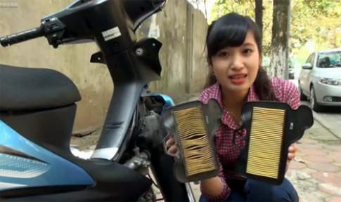 Hướng dẫn thay lọc gió xe máy