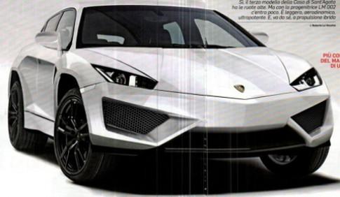 Lộ ảnh xe SUV của Lamborghini
