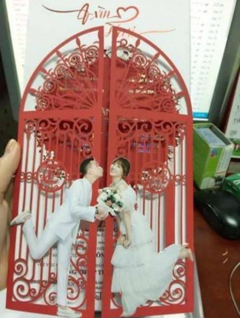Hé lộ thiệp cưới chính thức của Trấn Thành - Hari Won