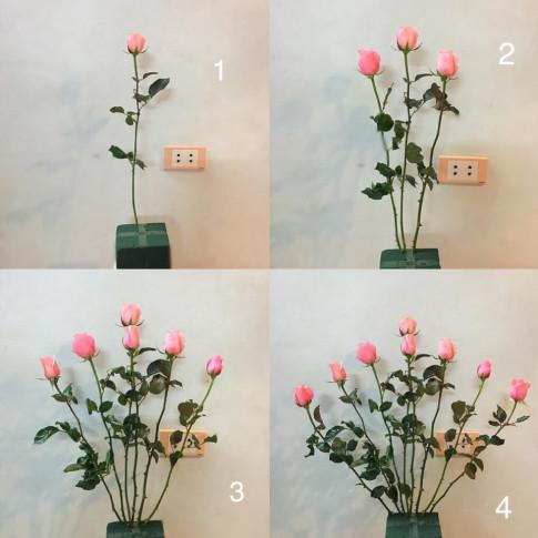 Mẹ U40 mách cách cắm bình hồng 100 bông chẳng khó chút nào