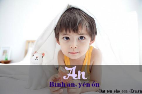 Bộ tên đẹp, ý nghĩa hay cho bé trai vần từ A - K