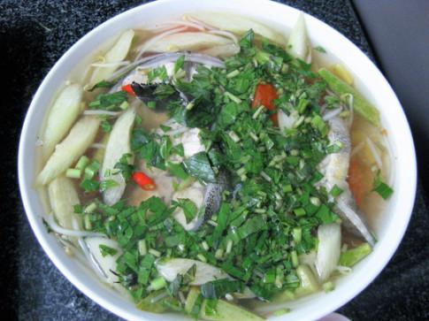 Cá bớp mà nấu canh chua