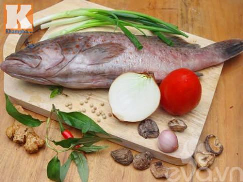 Cá song hấp xì dầu cho bữa ăn sau Tết