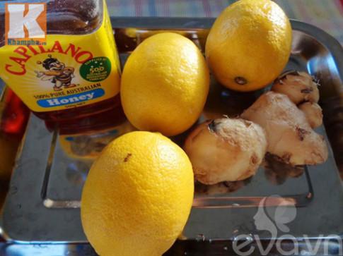 Cách ngâm chanh mật ong gừng trị ho