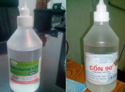 Cháu bé 12 tháng tuổi nhập viện vì bị rửa mũi nhầm bằng cồn 90 độ