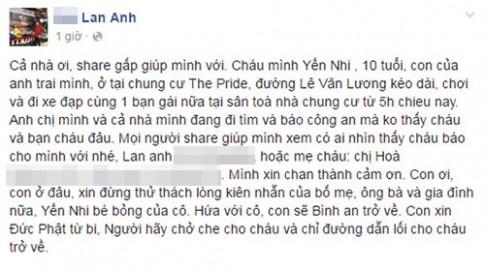 Hai bé gái Hà Nội 10 tuổi lập mưu 'bỏ nhà', mẹ tưởng bắt cóc, náo loạn facebook