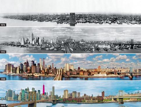 Ngắm 13 thành phố 'lột xác' với nhà chọc trời