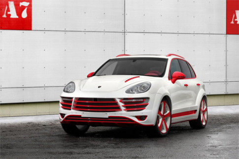 Porsche Cayenne độ phiên bản rồng đỏ
