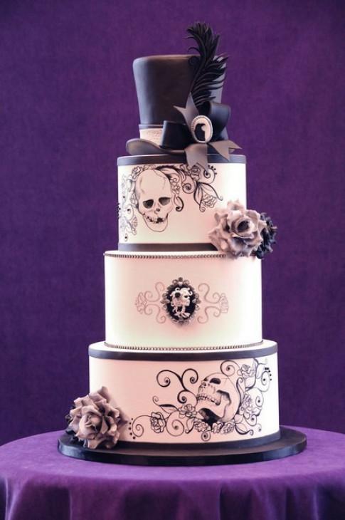 Rùng rợn với những chiếc bánh cưới Halloween