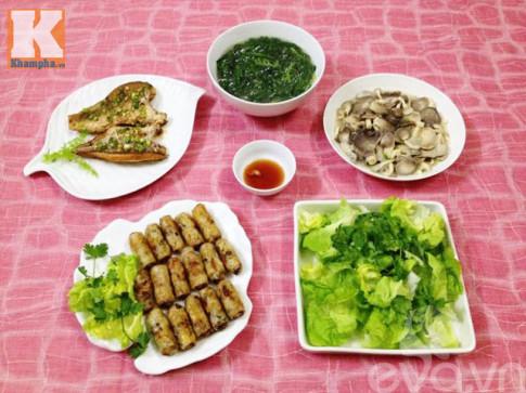 Thơm ngon với bữa cơm chiều giản dị