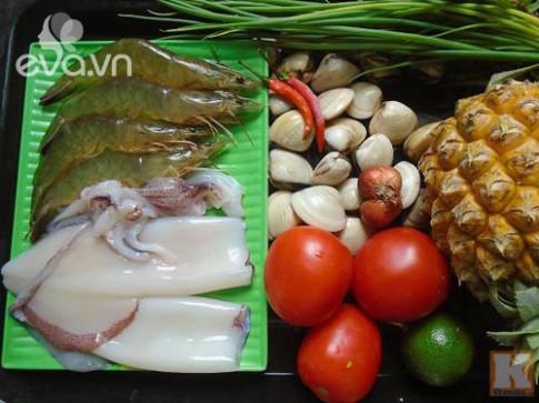 Bún hải sản tươi ngon, bổ dưỡng cuối tuần