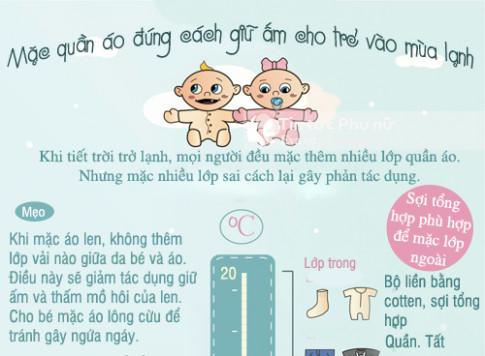 Các quy tắc mẹ đừng nên quên khi mặc quần áo cho trẻ ngày lạnh