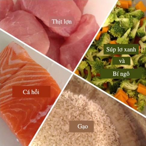 Cách nấu cháo cá hồi, thịt lợn cho trẻ thông minh, khỏe mạnh