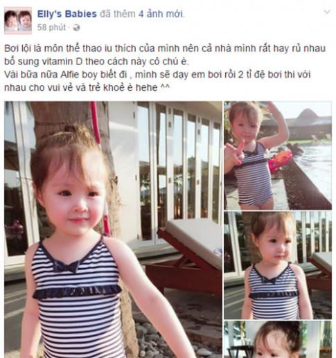 Lâu lắm Elly Trần mới khoe ảnh Cadie, nhiều người ngỡ ngàng vì cô bé đã quá lớn