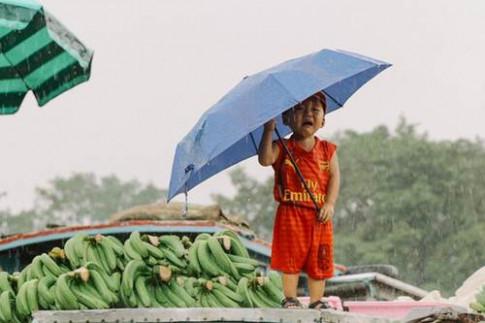 """Thực hư bức ảnh bé trai Sài Gòn """"khóc thương miền Trung"""" khiến ngàn người xúc động"""