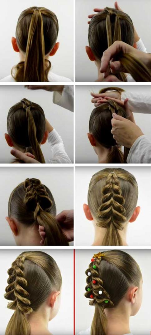 """4 kiểu tóc mẹ làm cho con gái, xuống phố chơi Noel là """"nổi bần bật"""" vì xinh như búp bê"""