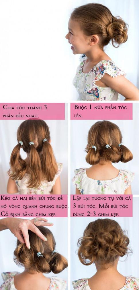 5 kiểu tóc dễ thương mà dễ làm cho bé gái tung tăng chơi Tết