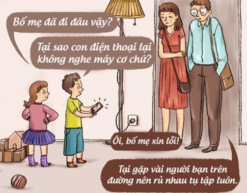Bạn sẽ phải suy nghĩ lại cách dạy con của mình sau khi xem bộ tranh hài hước này