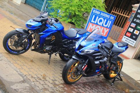 Cặp đôi Z1000 và ZX10R của Bình Dương Team độ nổi bật