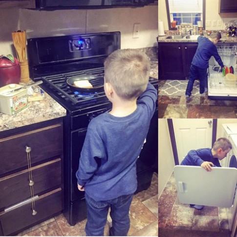 Cậu bé 6 tuổi mở cửa, kéo ghế, trả tiền bữa ăn cho mẹ và bài học sâu sắc