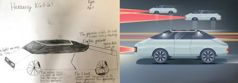 Điều gì sẽ xảy ra khi bạn nhờ trẻ em thiết kế xe hơi tương lai?
