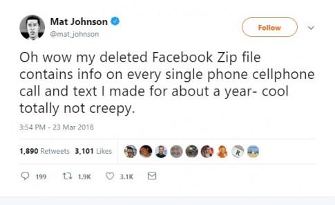 Facebook bị phát hiện ghi lại lịch sử cuộc gọi và tin nhắn của người dùng trong nhiều năm qua
