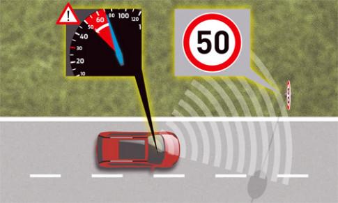 Ford phát triển công nghệ giới hạn tốc độ theo biển báo
