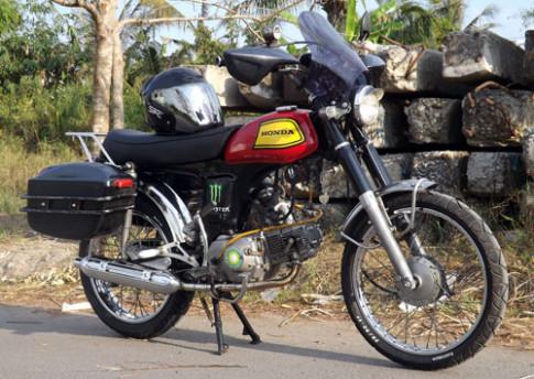 Honda 72 tân trang phong cách touring ở Đồng Tháp