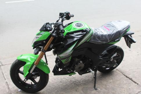 Kawasaki Z125 tuyệt đẹp trong bộ cánh xanh 2016
