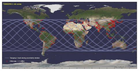 Ngày giờ rơi của trạm không gian Thiên Cung dần được xác định