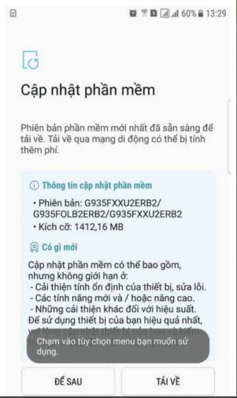 Người dùng Galaxy S7 Edge tại Việt Nam 'tình cờ' được lên đời Oreo