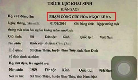 Những mẫu tên độc lạ chỉ có ở Việt Nam thời nay đố ai dám đặt cho con