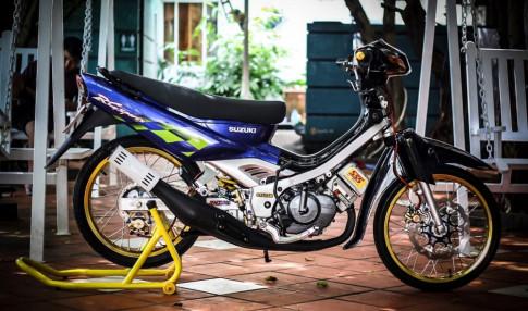 Satria đầu dẹp dọn đầy phong cách của biker Việt