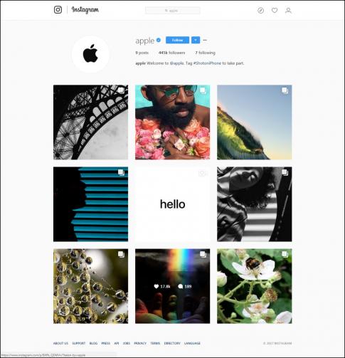 Sau tất cả, Apple cũng đã lập Instagram chuyên dùng để đăng ảnh chụp đẹp từ iPhone