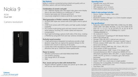Tin đồn: Nokia 9 sẽ được trang bị camera 41 MP, cấu hình khủng hơn cả Note 9?
