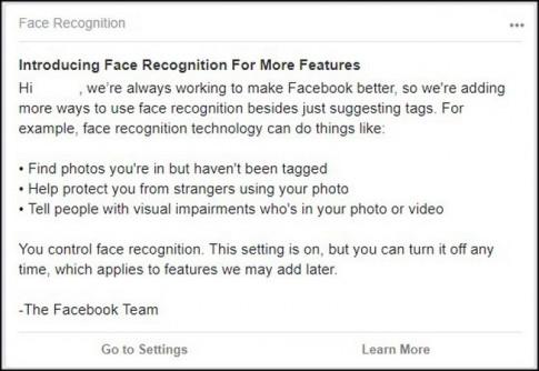 Tính năng nhận diện khuôn mặt của Facebook đã đến Việt Nam