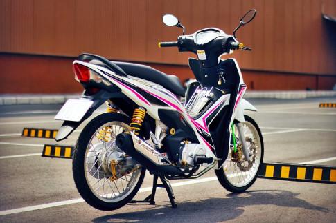 Wave RSX độ trắng hồng rạng rỡ