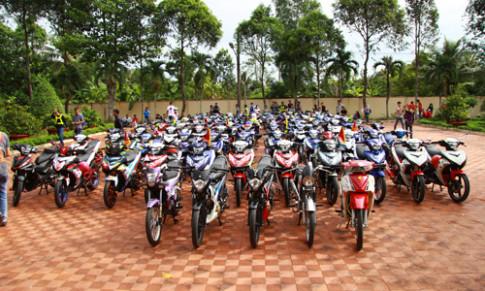 Hơn 200 xe Exciter hội tụ ở Tiền Giang